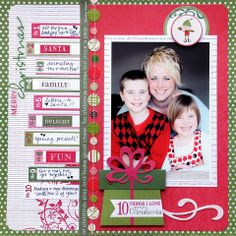 Christmas layout