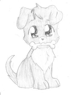 How To Draw Anime Puppy Easy Love Drawings, Girl Drawing Easy, Animal Sketches Easy, Cute Animal Drawings, Anime Puppy, Chibi Coloring Pages, Cute Anime Cat, Chibi Girl Drawings, Best Friend Drawings