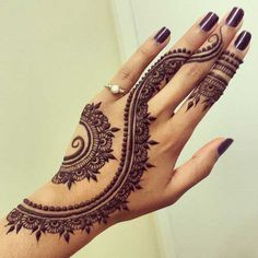 Here are the detail of few easy and simple Mehendi designs which can be used on your hands and fingers.