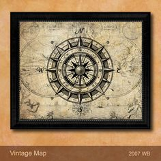 Vintage Nautical Style Large Color Canvas Navy by AllChalkboard