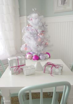 Elegant and whimsical all in one tree!! This beautiful tree is so fun for the holidays. Click for more.