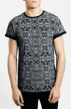Topman Print Crewneck T-Shirt available at #Nordstrom