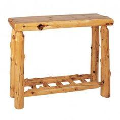 Fireside Lodge Furniture 14130 Cedar Sofa Table