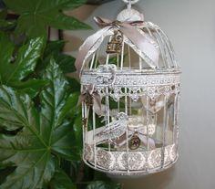 Cage à oiseaux ronde et son photophore : Accessoires de maison par la-cage-a-deco
