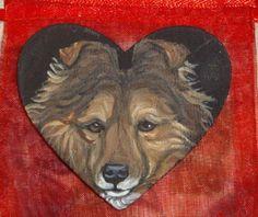 Sheltie Shetland Sheepdog Dog Painted Pin by daniellesoriginals