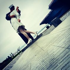 "Have you seen this iconic #SanDiego statue, ""Unconditional Surrender""? Find it along the Embarcadero."