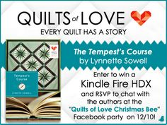 """Author Lynette Sowell are gearing up to ring in the Christmas season with a Kindle Fire HDX giveaway and a """"Christmas Bee"""" Facebook Party on December 10th with fellow Quilts of Love authors Vannetta Chapman & Lisa Carter! Enter and RSVP today!"""