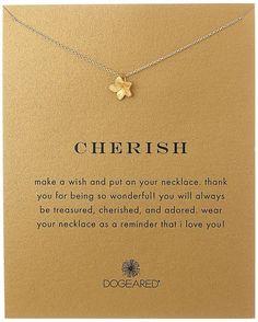 "Amazon.com: Dogeared ""Reminders"" Cherish-Plumeria Gold Charm Necklace, 18""…:"