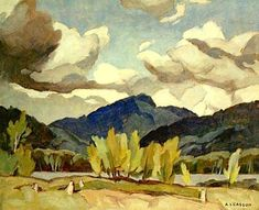 Limited Edition A. Casson Lithograph Hills at Baptiste Lake Group Of Seven Artists, Group Of Seven Paintings, Tom Thomson, Canadian Painters, Canadian Artists, Watercolor Landscape, Landscape Paintings, Landscapes, Klimt