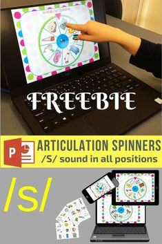 Make speech drills fun! These FREE colorful paperless spinners for /s/ are a fun and easy way to target the /s/ sound. They open in PowerPoint on most devices - making them easy to access and use. These are great for or group work! Articulation Therapy, Articulation Activities, Speech Therapy Activities, Language Activities, Phonics, Speech Language Therapy, Speech Language Pathology, Speech And Language, Phonological Processes