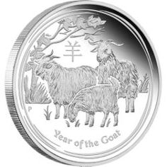 Your birth in the Year of the Goat means you're sure to be elegant, charming, artistic, gifted and calm | Australian Lunar Series II 2015 Year of the Goat Silver Proof Coins