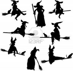 Witch Silhouettes Royalty Free Cliparts, Vectors, And Stock Illustration. Image 5420882.