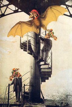 Les collages de Jacques Prévert collage Jacques Prevert dessin 05 featured design art