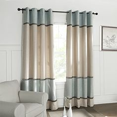 KoTing Home Fashion Modern Natural Linen Light Blue and Beige Patchwork Jacquard Thermal Insulated Room Darkening Curtains Drapes Grommet Top,1 Panel,100 by 100-Inches KoTing http://www.amazon.com/dp/B015O2U3UK/ref=cm_sw_r_pi_dp_w-u0wb0DG67AW