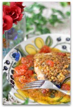 「サーモンの胡桃とコリアンダーソテー」のレシピ by バリ猫さん | 料理レシピブログサイト タベラッテ