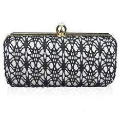 New Style Women's Black Evening Bag/Clutches with Lace (30 PAB) ❤ liked on Polyvore featuring bags, handbags, clutches, evening bags, lace purse, evening hand bags, lace evening bag and lace handbag