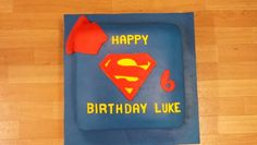 My son's superman cake I made for him