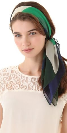You rock head scarves. Ever consider different lengths, styles, fabrics, ways to tie?