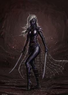 Dark Elf Assassin by SirTiefling.deviantart.com on @DeviantArt