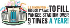 Straws fill Yankee Stadium nine times a day