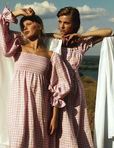"""Atlanta"" Linen Dress in Pink Vichy Nomad Fashion, Boho Fashion, Fashion Outfits, Casual Winter Outfits, Summer Outfits, Summer Dresses, Moda Mango, Artistic Fashion Photography, Atlanta"