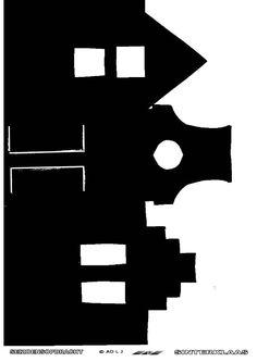 Met deze sjabloon en een restje verf op waterbasis kun je de daken op je eigen raam aan brengen. Cosy Christmas, Christmas Crafts For Kids, Christmas Deco, Shadow Theatre, Saint Nicolas, Winter Festival, Halloween Pictures, Winter Theme, Diy For Kids