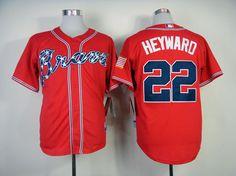 MLB ATLANTA BRAVES #22 HEYWARD RED(2014 NEW) JERSEY FJ(COOL BASE)