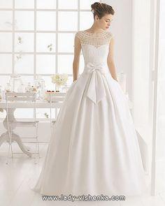 eine Schlichtes Brautkleid mit bowknot 2016  (48 Ideen)