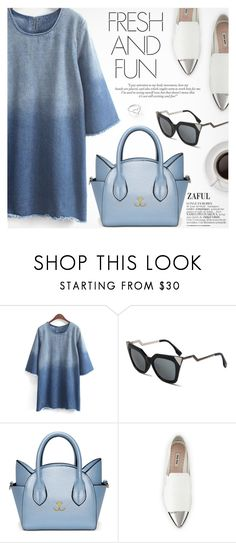 """Casual"" by pokadoll ❤ liked on Polyvore featuring Miu Miu, Jordan Askill, polyvoreeditorial, polyvorefashion, polyvoreset and zaful"