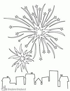 printable fireworks coloring page free pdf download at http