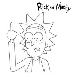 Bucket List Of Character From Rick And Morty TV Series Rick And Morty Coloring Pages. America has a famous TV series, it is Rick And Morty. That television series is an adult program that is telling us about Simpsons Drawings, Easy Cartoon Drawings, Mini Drawings, Cool Art Drawings, Art Drawings Sketches, Easy Drawings, Rick And Morty Drawing, Rick And Morty Tattoo, Small Canvas Art
