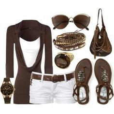 Take a look at the best what shoes to wear with white shorts in the photos below and get ideas for your outfits! What to Wear For a Vacation Image source Summer Wear, Spring Summer Fashion, Summer Outfits, Casual Outfits, Late Summer, Summer Time, Summer Nights, Summer Evening, Casual Summer
