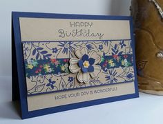 Stampin' Up! Demonstrator stampwithpeg – Birthday Card using Affectionately yours and Night of Navy As much as I'm still sad that Blackberry Bliss is retiring, I think Night of Navy