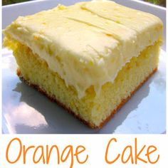 Orange Brownies with Cream Cheese Frosting – Plain Chicken Orange Cake Recipe – homemade cake with orange juice and orange zest – topped with a homemade orange cream cheese frosting. My favorite cake! Just Desserts, Delicious Desserts, Dessert Recipes, Meal Recipes, Desserts With Oranges, Recipes With Oranges, Dessert Bread, Juice Recipes, Chicken Recipes
