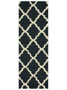 nuLOOM Handmade Alexa Moroccan Trellis Wool Runner Rug x (Blue/Grey- x Size x Large Area Rugs, Wool Area Rugs, Wool Rug, Wool Yarn, Grey Runner, Affordable Rugs, Moroccan Pattern, Trellis Pattern, Trellis Design
