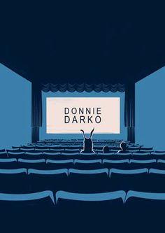 Minimal Donnie Darko film Poster 2001 movie by PBrainIllustration