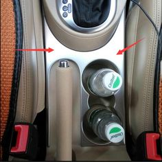 For VW Volkswagen Touran 2011-2015 Chrome Water Cup Holder Decoration Cover Trim 1pcs