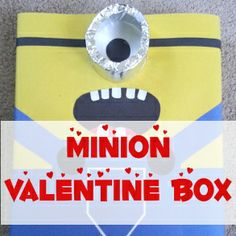 Minion Valentine Box Tutorial | From ABC's to ACT's  #DIY #Valentine via @abctoacts