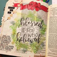 Wishing y'all a very merry Christmas! May your believing bring much blessing and your celebrations be completely wrapped up in Jesus! #biblejournaling #biblejournalingcommunity #advent2016 #christmasdecor #scriptureart #makersgonnamake