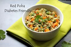 red-poha-diabetes-friendly