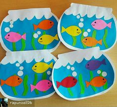 fish crafts for toddlers preschool crafts Kids Crafts, Daycare Crafts, Summer Crafts, Toddler Crafts, Arts And Crafts, Ocean Crafts, Art N Craft, Animal Crafts, Preschool Crafts
