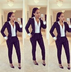 Some of the latest stunning office wears for the ladies at the moment ,which every lady of styles should put into consideration. Business Outfits, Business Attire, Casual Outfits, Fashion Outfits, Cute Outfits, Work Outfits, Fashion Trends, Suits For Women, Clothes For Women