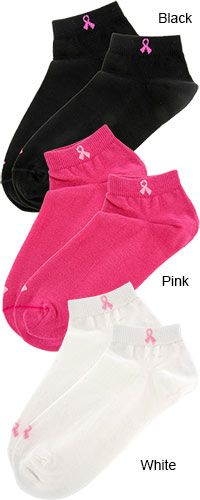 Pink Ribbon Low-Cut Sport Socks at The Breast Cancer Site