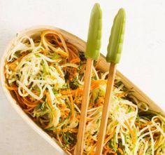 Falso espaguete de cenoura, abobrinha e pupunha - Paladar - Estadão