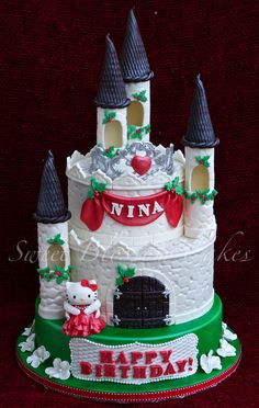 - Winter castle cake. Made it for my friend`s daughter. She had birthday on Christmas but got sick twice since then. my friend ask me to do Christmas theme Kitty cake. Thanks Royal Bakery for Inspiration!!!