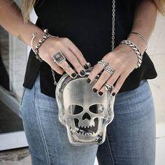 Rockabilly anillo Lucky 13 con calavera Skull 925 plata tres diez amuleto