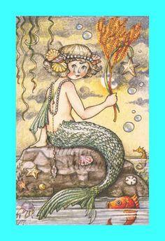 mermaid quilt applique