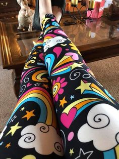 "Angela is a teacher and said that her Pre-K students loved her ""Elaine"" leggings! Go to Vahl and search ""Elaine"" to grab your own pair before they sell out!"