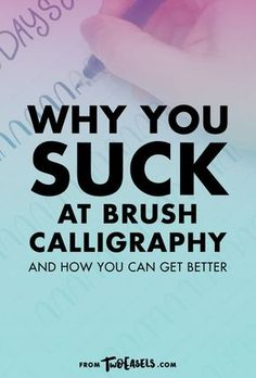 Why you suck at brush calligraphy Be honest, did you learn the basics before you decided to jump into doing brush calligraphy? I didn't think so. I made the same mistake, but I learned from it, and now I want to share with you something that will help y Hand Lettering Tutorial, Hand Lettering Fonts, Creative Lettering, Lettering Styles, Brush Lettering, Chalk Lettering, Lettering Ideas, Print Fonts, Calligraphy Handwriting