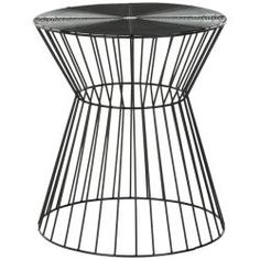 Safavieh Steelworks Iron Wires Black Stool | Overstock.com Shopping - Great Deals on Safavieh Coffee, Sofa & End Tables